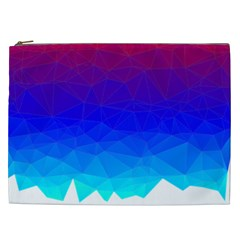 Gradient Red Blue Landfill Cosmetic Bag (xxl) by Jojostore
