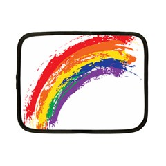 Watercolor Painting Rainbow Netbook Case (small) by Mariart