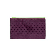 Nodes Purple Texture Cosmetic Bag (xs) by AnjaniArt