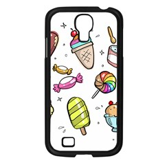 Doodle Cartoon Drawn Cone Food Samsung Galaxy S4 I9500/ I9505 Case (black) by Pakrebo