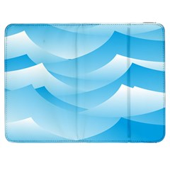 Waves Background Samsung Galaxy Tab 7  P1000 Flip Case by AnjaniArt