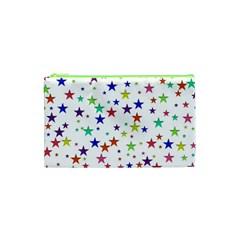 Star Random Background Scattered Cosmetic Bag (xs) by Pakrebo
