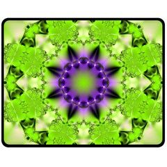 Pattern Abstract Background Art Green Double Sided Fleece Blanket (medium)