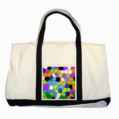 Stained Glass Colourful Pattern Two Tone Tote Bag