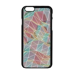 Triangle Mesh Render Background Apple Iphone 6/6s Black Enamel Case by AnjaniArt
