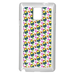 Sweet Dessert Food Cake Pattern Samsung Galaxy Note 4 Case (white) by AnjaniArt
