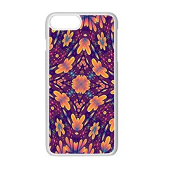 Kaleidoscope Background Design Purple Apple Iphone 7 Plus Seamless Case (white) by AnjaniArt