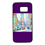 Time Square  Samsung Galaxy S7 Black Seamless Case
