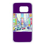 Time Square  Samsung Galaxy S7 White Seamless Case