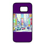 Time Square  Samsung Galaxy S7 edge Black Seamless Case