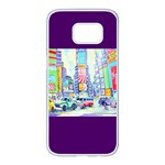 Time Square  Samsung Galaxy S7 edge White Seamless Case