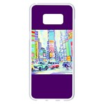 Time Square  Samsung Galaxy S8 Plus White Seamless Case