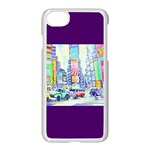 Time Square  Apple iPhone 8 Seamless Case (White)