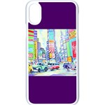 Time Square  Apple iPhone X Seamless Case (White)
