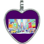Time Square  Heart Necklace