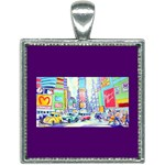 Time Square  Square Necklace