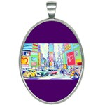 Time Square  Oval Necklace