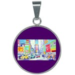 Time Square  25mm Round Necklace