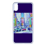 Time Square  Apple iPhone XS Max Seamless Case (White)
