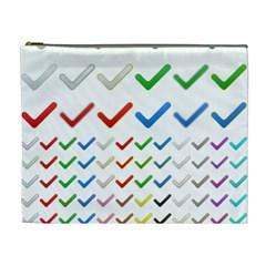 Confirm Button Metallic Metal Set Cosmetic Bag (xl) by Desi8477