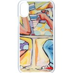 At the Cafe  Apple iPhone X Seamless Case (White)