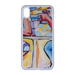 At the Cafe  Apple iPhone XR Seamless Case (White)