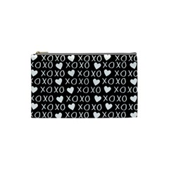 Xo Valentines Day Pattern Cosmetic Bag (small) by Valentinaart