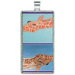 Mother s Love  by Madzinga Art Rectangle Necklace