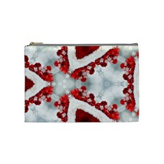 Christmas Background Tile Gifts Cosmetic Bag (medium)