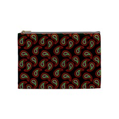 Pattern Abstract Paisley Swirls Cosmetic Bag (medium) by AnjaniArt
