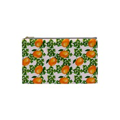 Citrus Tropical Orange Pink Cosmetic Bag (small) by snowwhitegirl