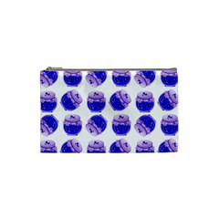 Kawaii Blueberry Jam Jar Pattern Cosmetic Bag (small) by snowwhitegirl