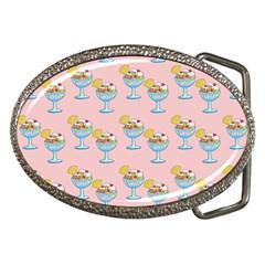 Ice Cream Sundae Pink Belt Buckles by snowwhitegirl
