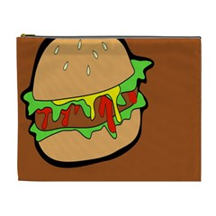 Burger Double Cosmetic Bag (xl)