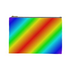 Background Diagonal Refraction Cosmetic Bag (large)