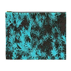 Blue Etched Background Cosmetic Bag (xl)