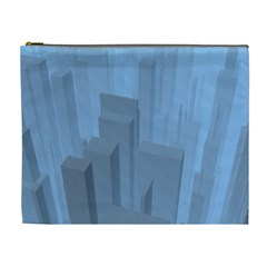 City Contemporary Modern Futuristic Cosmetic Bag (xl)