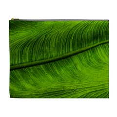 Green Leaf Plant Freshness Color Cosmetic Bag (xl)