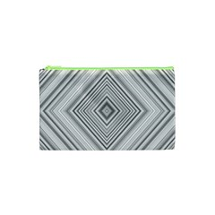 Black White Grey Pinstripes Angles Cosmetic Bag (xs)