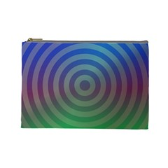 Blue Green Abstract Background Cosmetic Bag (large) by Desi8477