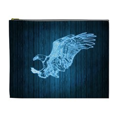 Eagle Neon Light Glow Blue Prey Cosmetic Bag (xl)
