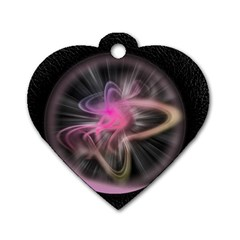 Stress Fractal Round Ball Light Dog Tag Heart (one Side)