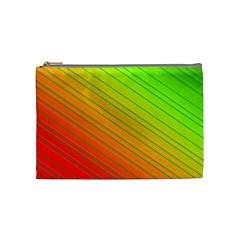 Orange Green Gradient Hunter Cosmetic Bag (medium) by Jojostore