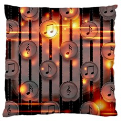 Music Notes Sound Musical Audio Large Cushion Case (one Side)