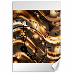 Time Clock Star Hour Day Night Canvas 12  X 18