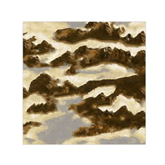 Mountains Ocean Clouds Small Satin Scarf (square)