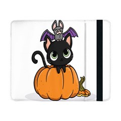 Halloween Cute Cat Samsung Galaxy Tab Pro 8 4  Flip Case by Bajindul