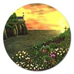Eddie s Sunset Magnet 5  (Round)
