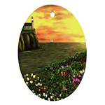 Eddie s Sunset Oval Ornament (Two Sides)