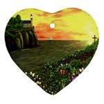 Eddie s Sunset Heart Ornament (Two Sides)